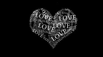 Black and white love wallpaper