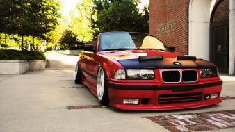 Bmw 3 series e36 cars red tuning Wallpaper