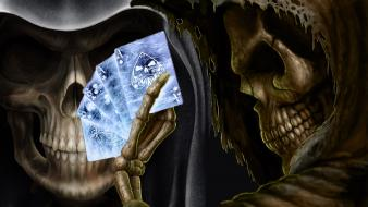 Cards skulls death wallpaper