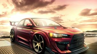 Cars drawings tuning mitsubishi lancer evolution wallpaper
