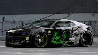 Chevrolet camaro monster energy cars wallpaper