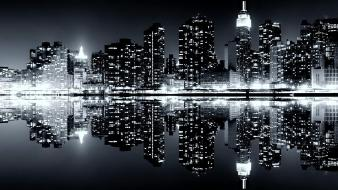 Cityscapes skylines new york city wallpaper