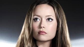 Close-up eyes summer glau long hair brown wallpaper