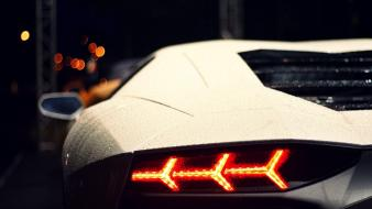 Close-up lights cars lamborghini vehicles aventador lp700-4 waterdrops wallpaper