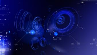 Cool blue abstract wallpaper
