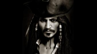 Dark pirates of the caribbean jack sparrow captain Wallpaper
