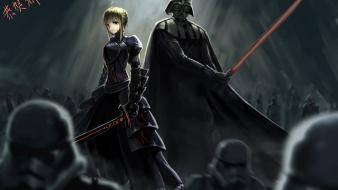 Darth vader saber crossovers alter fate series wallpaper