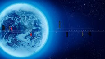 Earth arrows atmosphere infographics information Wallpaper