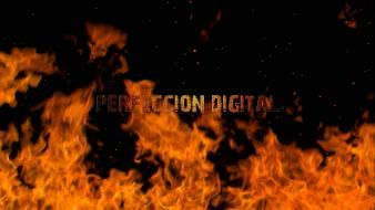 Fire logos dancing perfeccion digital Wallpaper
