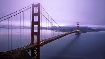 Fog bridges golden gate bridge cities sea wallpaper