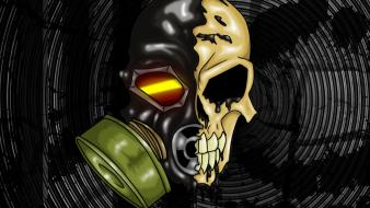 Gas masks trenchhead scule wallpaper