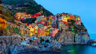 Greece italy manarola wallpaper