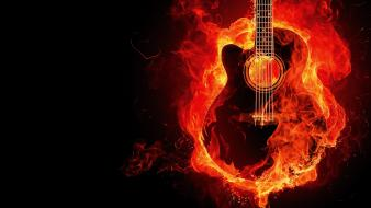 Guitar flames Wallpaper