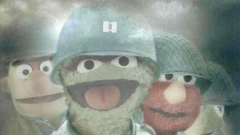 Humor oscar the grouch saving private ryan elmo Wallpaper