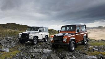 Ice fire land rover defender Wallpaper