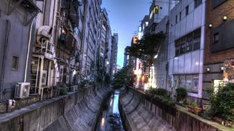 Japan shibuya canal cities cityscapes wallpaper