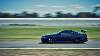 Japanese domestic market skyline r34 tuned car Wallpaper