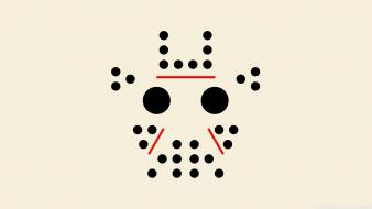 Minimalistic friday the 13th dots jason voorhees faces Wallpaper