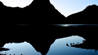 Mountains landscapes new zealand morning reflections wallpaper