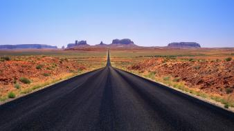 Mountains roads panorama multiscreen badlands wallpaper