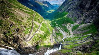 Norway trollstigen landscapes mountains natural scenery wallpaper