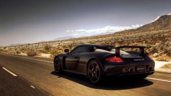 Porsche carrera gt black Wallpaper