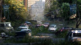 Post-apocalyptic the last of us wallpaper