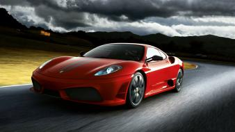 Red cars ferrari supercars sports f430 scuderia Wallpaper