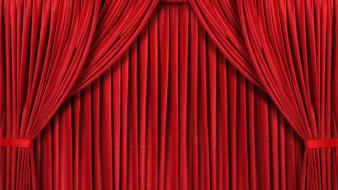 Red curtain background wallpaper