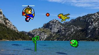 Retro games alex kidd 16 bit wallpaper