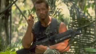 Soldiers guns movies jungle arnold schwarzenegger watches Wallpaper