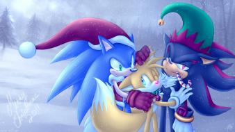 Sonic the hedgehog tails christmas shadow wallpaper