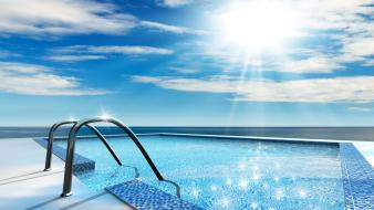 Swimming pool sunshine Wallpaper