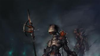 Tails soldiers cyborgs fantasy art artwork wallpaper