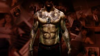 Tattoos video games artwork sleeping dogs 101 wallpaper