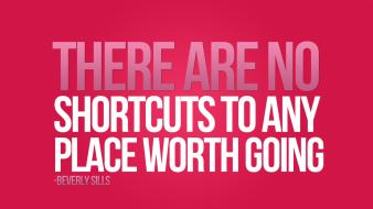 Typography shortcuts motivation pink background wallpaper