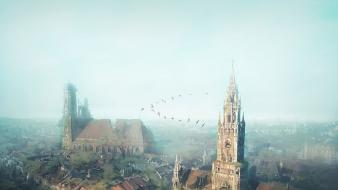 Video games ruins post-apocalyptic crysis munich cities marienplatz wallpaper