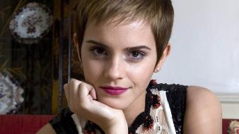 Watson actress lips celebrity short hair faces Wallpaper