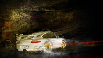 White cars supercars sports porsche 911 gt3 Wallpaper