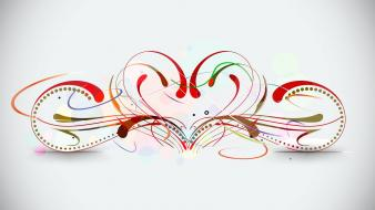 Abstract vector valentines hearts graphics Wallpaper
