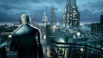 Artwork lightning absolution agent 47 cities art wallpaper