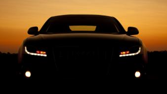 Audi cars headlights wallpaper