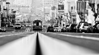Black and white cityscapes san francisco wallpaper