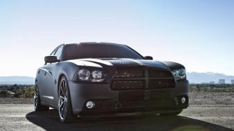 Black cars dodge charger american auto Wallpaper