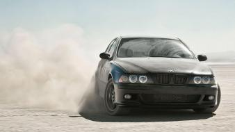 Bmw black cars desert wheels drift auto wallpaper