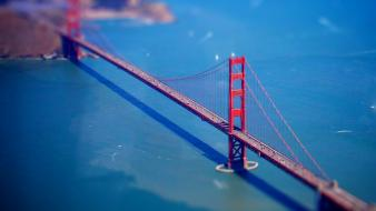 Bridges tilt-shift wallpaper