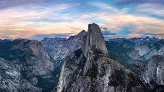 California yosemite national park blue clouds forests wallpaper