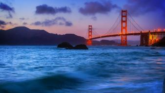 Cityscapes golden gate bridge sea wallpaper