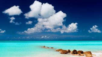 Clouds landscapes paradise islands skyscapes wallpaper