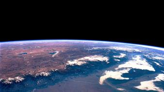 Earth surface from space wallpaper